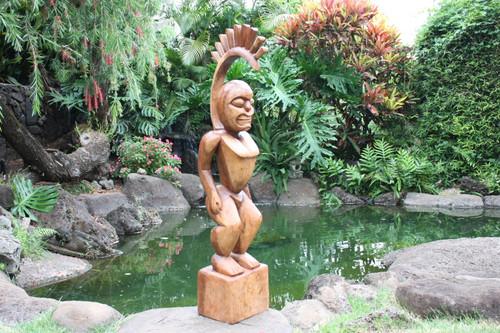 "Tiki Goddess Pele - 48"" Muse De L' Homme - Hawaiian Heritage"