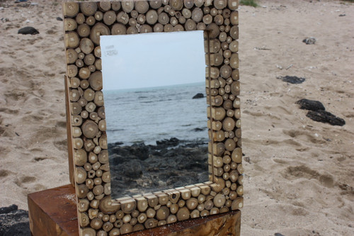 "Teak Root Mirror 20""x16"" - Coastal Living"
