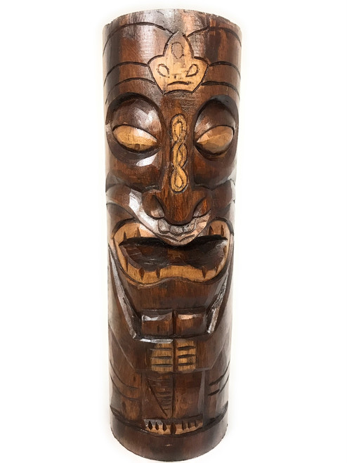 "Easter Island Da King Tiki Totem 20"" Antique Finish - Hand Carved 