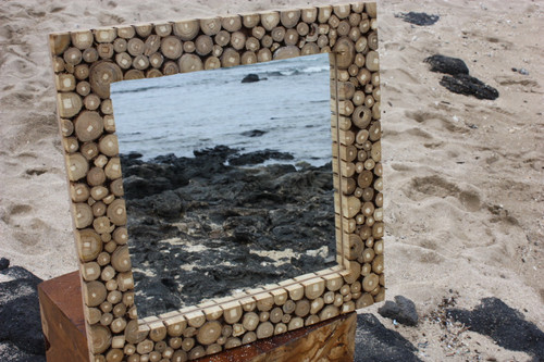 "Teak Root Mirror 20""x20"" - Coastal Living"