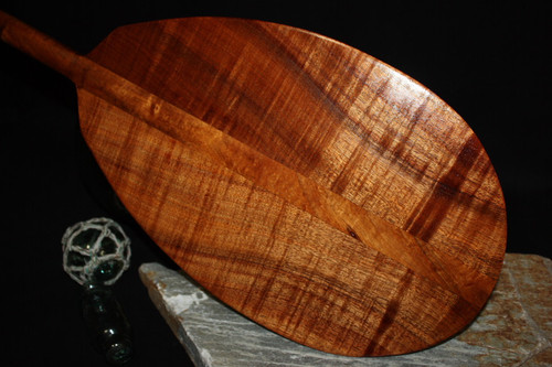 "AAA Tiger Premium Hawaiian Koa Paddle 60"" - Made in Hawaii 2"