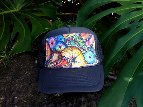 "Aloha Trucker Hats ""Sea Candy"" - Hand Stitched in Hawaii"