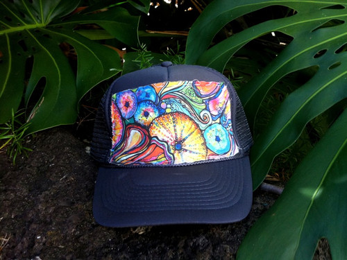 "Aloha Trucker Hats ""Sea Candy"" - Hand Stitched in Hawaii"