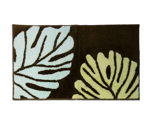 "Sea Brown Monstera Rug - 21""x 34"" - Floral Design"