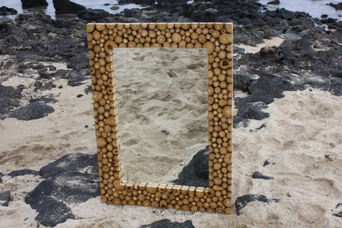 "Teak Root Mirror 32""x24"" - Coastal Living"