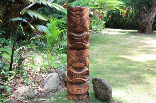 "Premium Hawaiian Tiki Totem Pole 48"" - Outdoor | #bla6005120s"