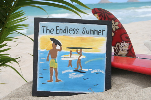 """""""ENDLESS SUMMER"""" CARVED/PAINTED 12"""" RELIEF - SURF DECOR"""
