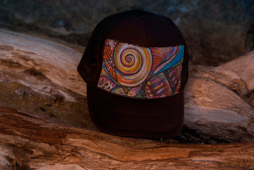 "Aloha Trucker Hats ""Coneshell"" - Hand Stitched in Hawaii"