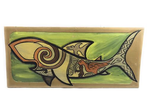 "Tribal Shark Birth 30"" X 15"" - Endangered Species | #dpt517975"