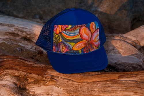 "Aloha Trucker Hats ""Tropic"" - Hand Stitched in Hawaii"