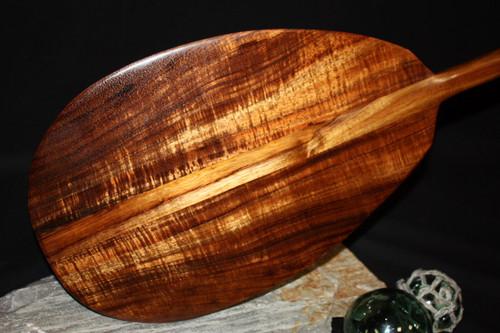 """AAA GRADE Curly Koa Paddle 50"""" T-Handle - Made In Hawaii"""