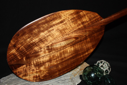 "AAA GRADE Curly Hawaiian Koa Paddle 60"" - Made in Hawaii 2"