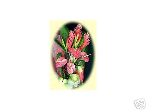 PINK SUNRISE HAWAII FRESH FLOWERS BOUQUET - WEDDING TIKI