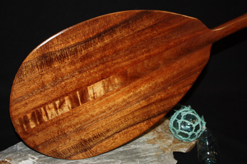 "Curly Koa Paddle 50"" T-Handle - Made In Hawaii 2"
