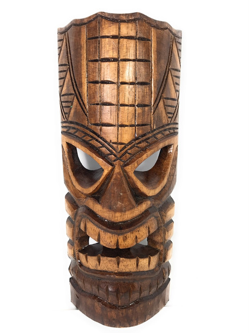 "Prosperity Tiki Mask 12"" - Hand Carved 