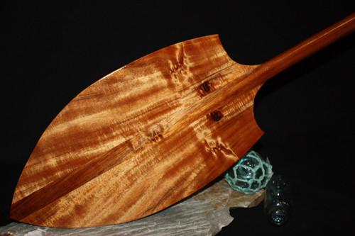 """Koa AAA Grade Alii Design Paddle 50"""" T-handle - Outrigger Canoe - Made in Hawaii"""