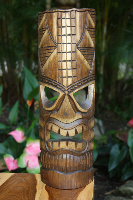 "Prosperity Tiki Mask 20"" - Hand Carved 