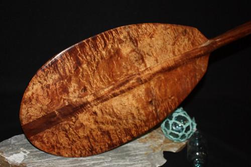 "Rare Burl Curls Koa Paddle 50"" T-Handle - Made In Hawaii"