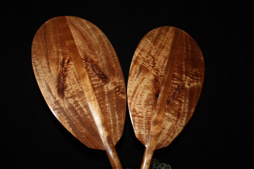 AAA Grade Pair Of Matching Curly Outrigger Koa Paddles 60""