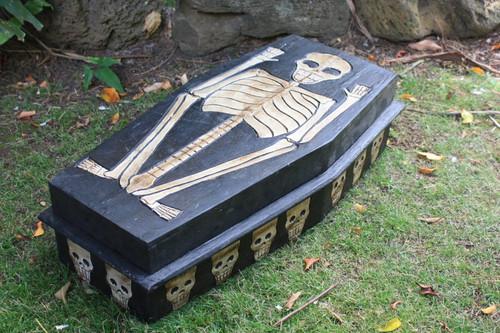 "Large Treasure Chest Box 24"" X 12"" - Cross Bones Accessories"