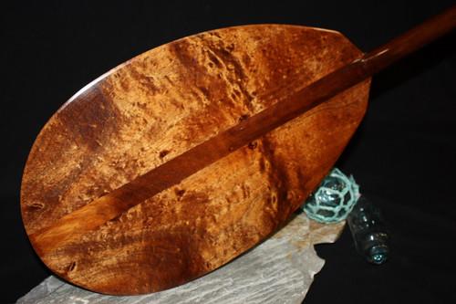 """Premium Watermark Curls Koa Paddle 50"""" T-Handle - Made In Hawaii"""