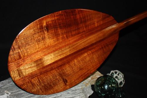 "Premium Curly Koa Paddle 50"" T-Handle - Made In Hawaii 9"