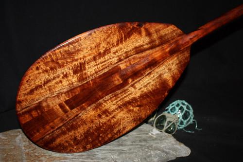 "Curly Hawaiian Koa Paddle 50"" T-Handle | #koa4517"