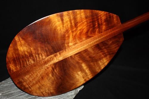 "Lava Flow Premium Curly Koa Paddle 50"" w/ T-Handle - Made In Hawaii"
