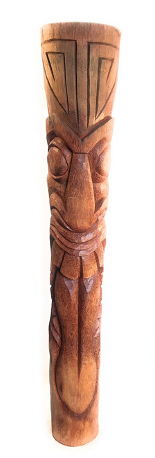 Maori Warrior Tiki 7 Foot - Natural Finish - Hand Carved | #lbj30013200