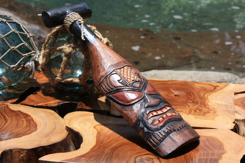 "TIKI PADDLE 12"" HAND CARVED & PAINTED"