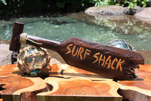 """Surf Shack"" Hanging Paddle - 40"" - Surf Decor"