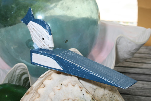 """FISH"" DOOR STOPPER 4"" BLUE - NAUTICAL DECOR"