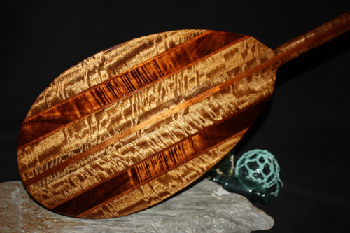 "Exquisite Koa Paddle w/ Inlay 60"" Oahu Built | #koa4414"