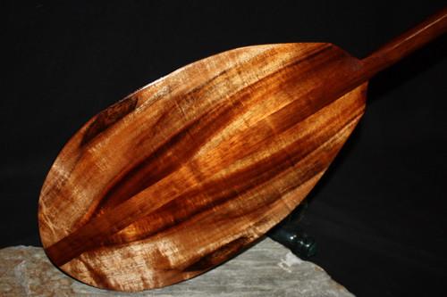 """Duo Tone Curly Koa Paddle 60"""" Hawaii Built   #koa4278"""