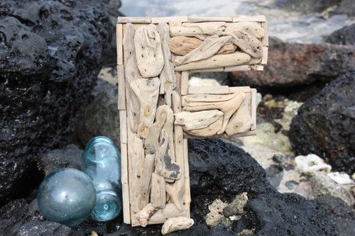 """F"" Driftwood Letter 10"" Home Decor"