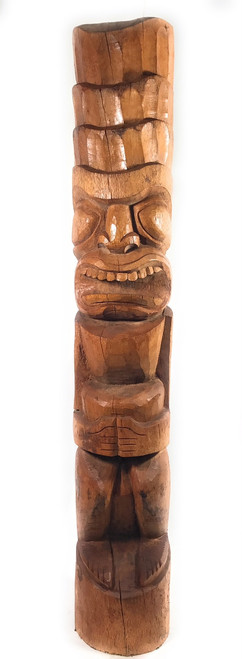 "Outdoor Tiki God Kane 60"" - Natural - Tropical Tikis Pool Decor 