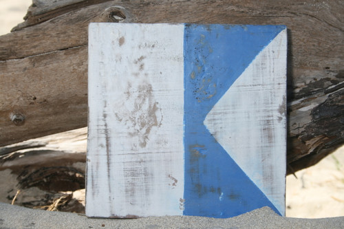 """A"" NAUTICAL RUSTIC FLAG 8' X 8' - WOOD PANEL - NAUTICAL DECOR"