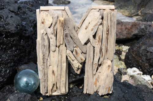 """M"" Driftwood Letter 10"" Home Decor"