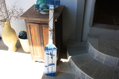 "Nautical Hanging Oar w/ Slats 40"" - Nautical Decor"