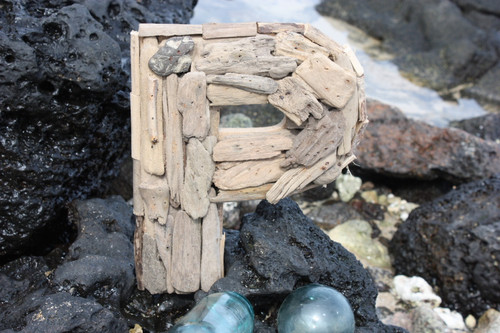 """P"" Driftwood Letter 10"" Home Decor"
