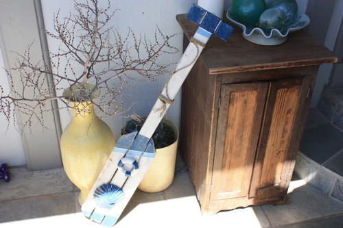 "Nautical Hanging Oar w/ Slats 40"" - Nautical Decor 2"