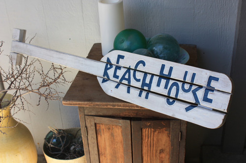 """Beach House"" Nautical Hanging Oar w/ Slats 40"""