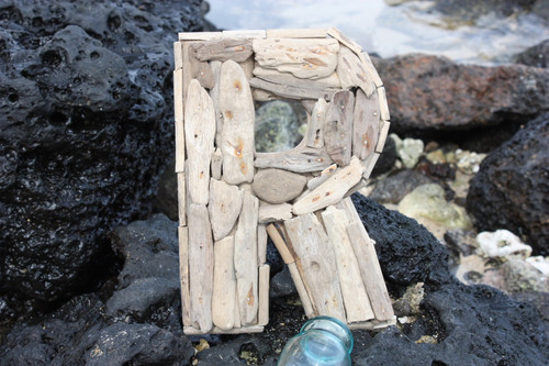 """R"" Driftwood Letter 10"" Home Decor"