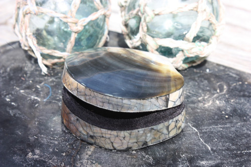 Seashell Keepsake Box Small - Gold & Silver - Coastal Decor