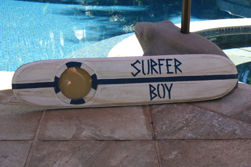 """Surfer Boy"" Nautical Sign w/ Built-In Photo frame 40"" 