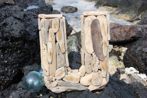 """U"" Driftwood Letter 10"" Home Decor"