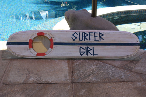 """Surfer Girl"" Nautical Sign w/ Built-In Photo frame 40"" 