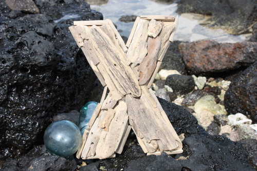 """X"" Driftwood Letter 10"" Home Decor"