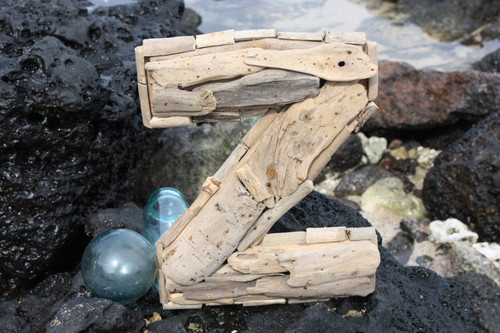"""Z"" Driftwood Letter 10"" Home Decor"