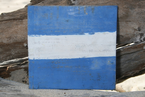 """J"" NAUTICAL RUSTIC FLAG 8' X 8' - WOOD PANEL - NAUTICAL DECOR"